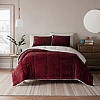 UGG® Clifton 3-Piece Reversible Full/Queen Comforter Set in Garnet