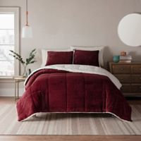 UGG® Clifton 3-Piece Reversible King Comforter Set in Garnet