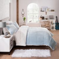UGG® Clifton 2-Piece Reversible Twin Comforter Set in Sky Blue