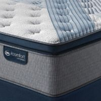 Serta® iComfort® Hybrid Blue 1000 Plush Pillow Top Low Profile California King Mattress Set