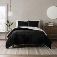 UGG® Clifton 2-Piece Reversible Twin Comforter Set in Black
