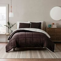 UGG® Clifton 2-Piece Reversible Twin Comforter Set in Chocolate