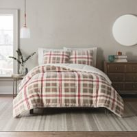 UGG® Clifton 3-Piece Reversible King Comforter Set in Red Plaid