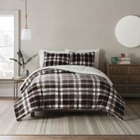 UGG® Clifton 2-Piece Reversible Twin Comforter Set in Charcoal Plaid