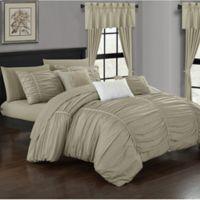 Chic Home Gruyeres 20-Piece King Comforter Set in Beige