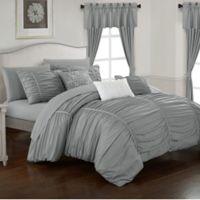 Chic Home Gruyeres 20-Piece King Comforter Set in Grey
