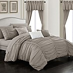 Chic Home Gruyeres 20-Piece King Comforter Set in Taupe