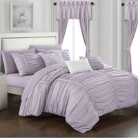 Chic Home Gruyeres 20-Piece King Comforter Set in Lilac