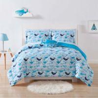 My World Deep Blue Sea 2-Piece Twin XL Comforter Set in Blue