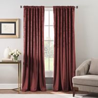 Stockton Velvet Rod Pocket/Back Tab Window Curtain Panel