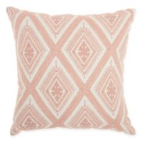 Mina Victory by Nourison Crochet Square Throw Pillow in Rose