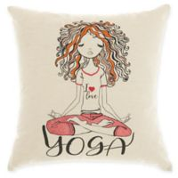 Mina Victory by Nourison Curly Yoga Square Throw Pillow in Natural