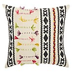 Mina Victory by Nourison Texture Patterns Square Throw Pillow in Cream