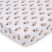 Gerber® Bears Fitted Jersey Crib Sheet