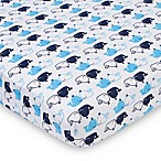 Gerber® Whale Fitted Jersey Crib Sheet