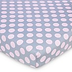 Gerber® Dot Fitted Jersey Crib Sheet in Pink/Grey