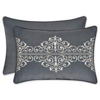 J. Queen New York™ Miranda Boudoir Embroidered Oblong Throw Pillow in Spa