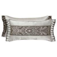 J. Queen New York™ Chancellor Boudoir Jacquard Oblong Throw Pillow in Metallic Silver