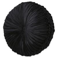 J. Queen New York™ Chancellor Tufted Round Throw Pillow in Black