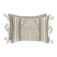 J. Queen New York Romano Damask Oblong Throw Pillow in Blue
