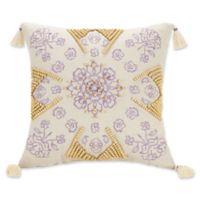Jessica Simpson Jacky Velvet Square Throw Pillow in Purple
