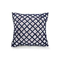 Jessica Simpson Verbena French Knot Square Throw Pillow in Blue