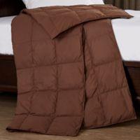 Puredown Packable Down Throw Blanket in Chocolate