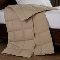Puredown Packable Down Throw Blanket in Khaki