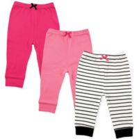Luvable Friends® Size 5T 3-Pack Striped Tapered Pants in Black/Pink