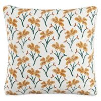 Vanves Floral Throw Pillow in Blue/Yellow