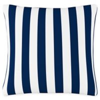 Skyline Canopy Striped Square Throw Pillow in Blue