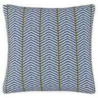 Broken Twill Throw Pillow in Blue