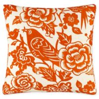 Skyline Furniture Canary Square Throw Pillow in Orange