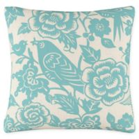 Skyline Furniture Canary Square Throw Pillow in Blue