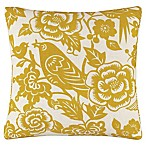 Skyline Furniture Canary Square Throw Pillow in Yellow