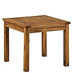 Forest Gate 20-Inch Square Wood Patio Side Table in Dark Brown