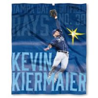 MLB Tampa Bay Rays Kevin Kiermaler Silk Touch Player Throw Blanket