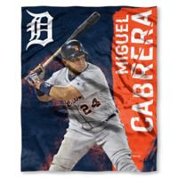 MLB Detroit Tigers Miguel Cabrera Silk Touch Player Throw Blanket