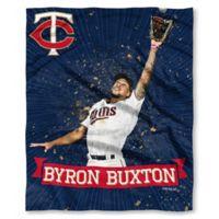 MLB Minnesota Twins Bryan Buxton Silk Touch Player Throw Blanket