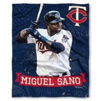 MLB Minnesota Twins Miguel Sano Silk Touch Player Throw Blanket