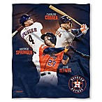 MLB Houston Astros C. Correa, G. Springer, and J. Altuve Silk Touch Player Throw Blanket
