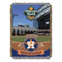MLB Houston Astros Home Stadium Woven Tapestry Throw Blanket