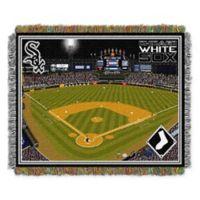 MLB Chicago White Sox Home Stadium Woven Tapestry Throw Blanket