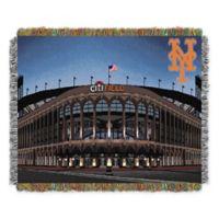 MLB New York Mets Home Stadium Woven Tapestry Throw Blanket