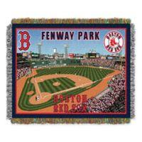 MLB Boston Red Sox Home Stadium Woven Tapestry Throw Blanket
