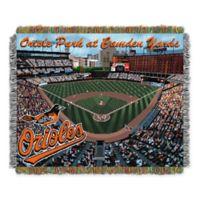 MLB Baltimore Orioles Home Stadium Woven Tapestry Throw Blanket
