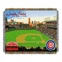 MLB Chicago Cubs Home Stadium Woven Tapestry Throw Blanket
