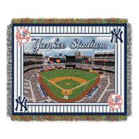 MLB New York Yankees Home Stadium Woven Tapestry Throw Blanket
