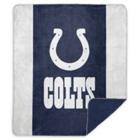 NFL Indianapolis Colts Denali Sliver Knit Throw Blanket