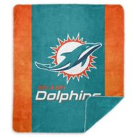NFL Miami Dolphins Denali Sliver Knit Throw Blanket